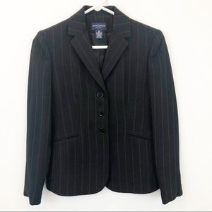 Ann Taylor petite 3 button pinstriped blazer